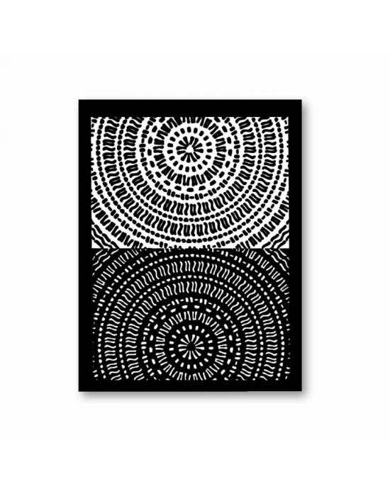 Tonja silk screen Radiating Lines