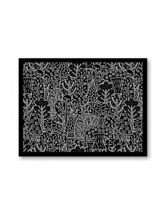 Tonja silk screen Whimsical forest