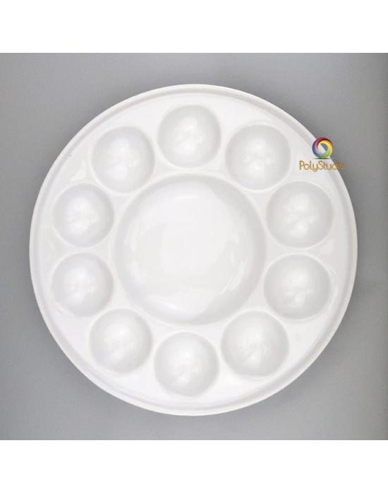 Ceramic palette 7 alveolus