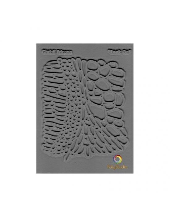 C. Friesen Texture stamp Rock on
