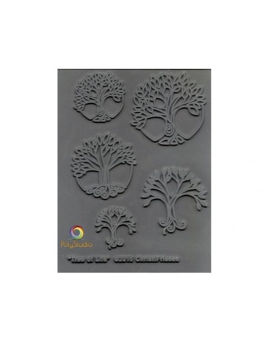 C. Friesen Texture stamp Trees of life