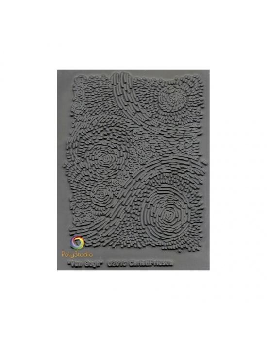 C. Friesen Texture stamp Van Gogh