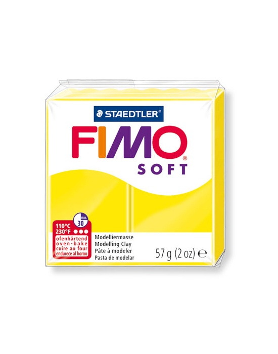 FIMO Soft 57 g Jaune Citron N° 10