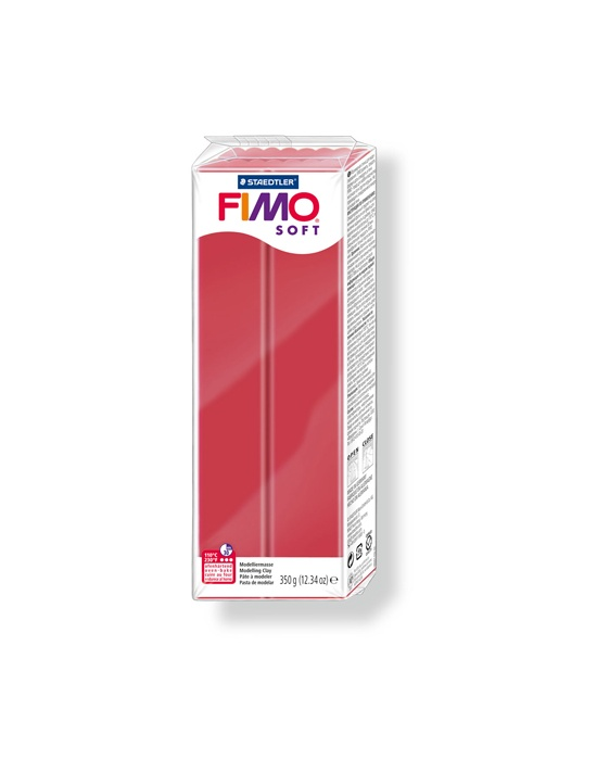 FIMO Soft 350 g rouge cerise N° 26