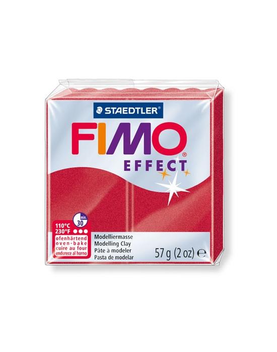 FIMO Effect 57 g Métallique Rouge rubis N° 28