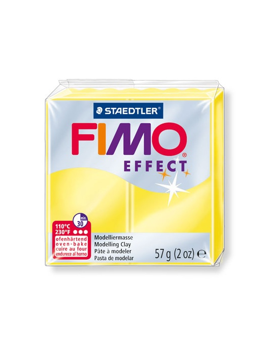 FIMO Effect 57 g 2 oz translucent yellow Nr 104