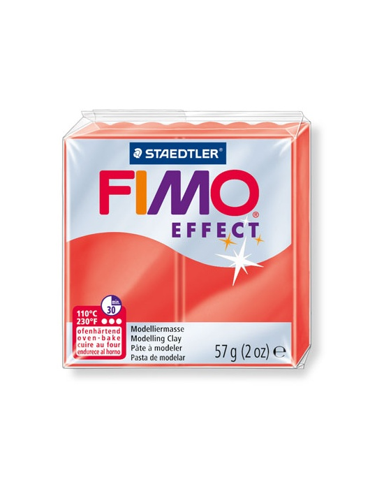 FIMO Effect 57 g transparent rouge N° 204