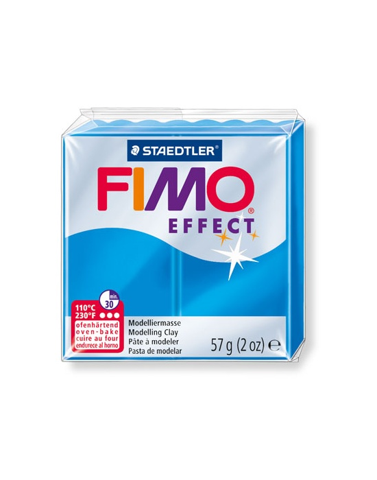 FIMO Effect 57 g 2 oz Translucent Blue Nr 374