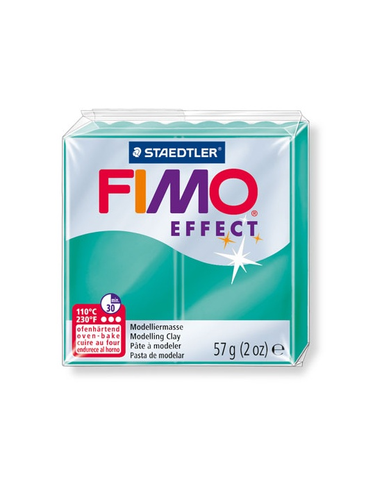FIMO Effect 57 g 2 oz translucent green Nr 504