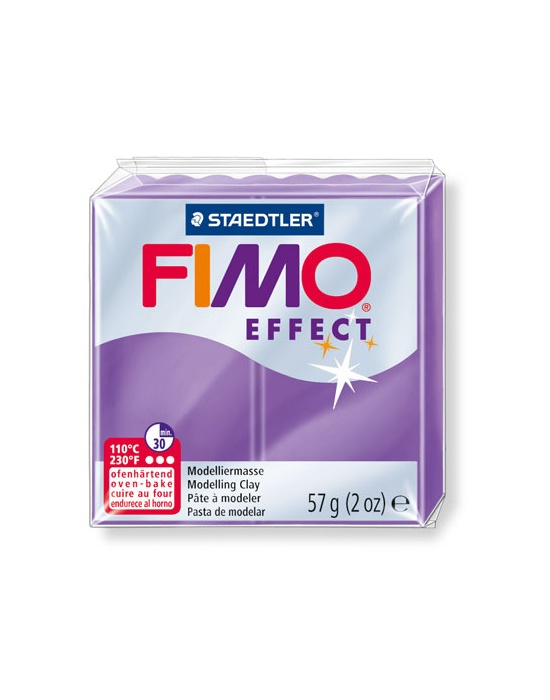 FIMO Effect 57 g Transparent Lilas N° 604