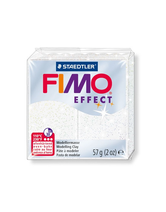FIMO Effect 57 g 2 oz Glitter White Nr 52