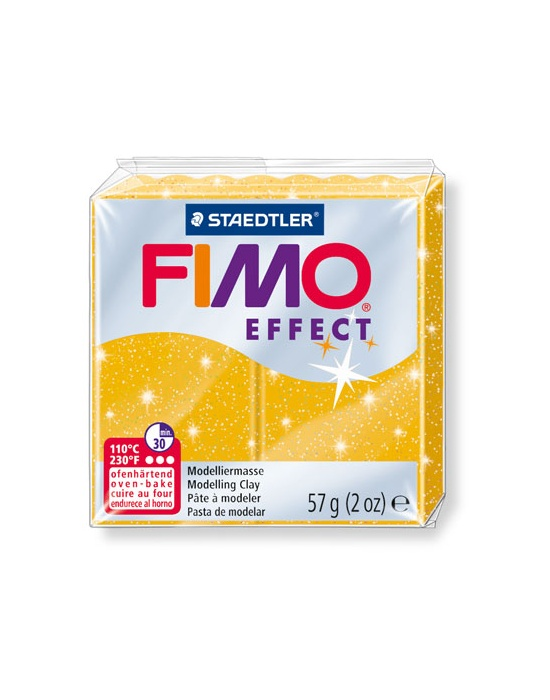 FIMO Effect 57 g 2 oz glitter gold Nr 112