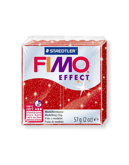 FIMO Effect 57 g Glitter Rouge N° 202