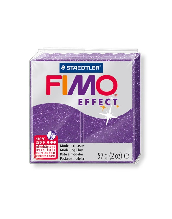 FIMO Effect 57 g glitter lilas N° 602