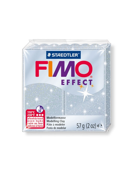 FIMO Effect 57 g 2 oz Glitter Silver Nr 812