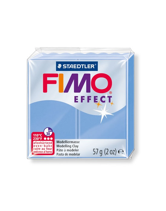 FIMO Effect 57 g Nacre Bleu Agate N° 386
