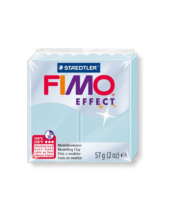 FIMO Effect 57 g 2 oz gemstone blue ice quartz Nr 306