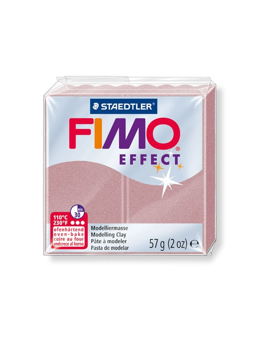 FIMO Effect 57 g Perle Or Rosé N° 207