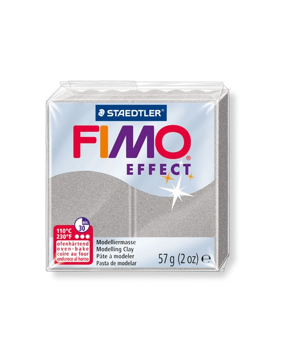 FIMO Effect 57 g Perle Argent Clair N° 817