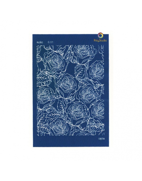 Moïko silk screen Roses