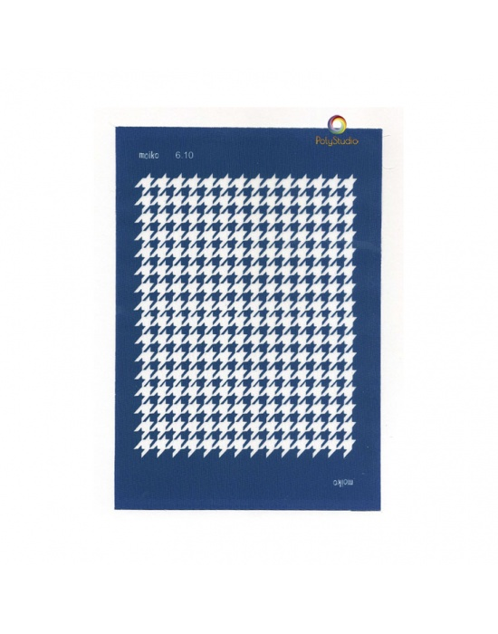 Moïko silk screen Houndstooth