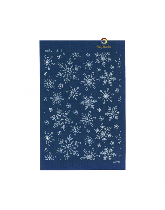 Moïko silk screen Snow flakes