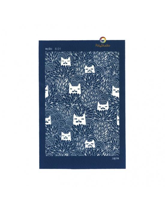 Moïko silk screen Hidden cats