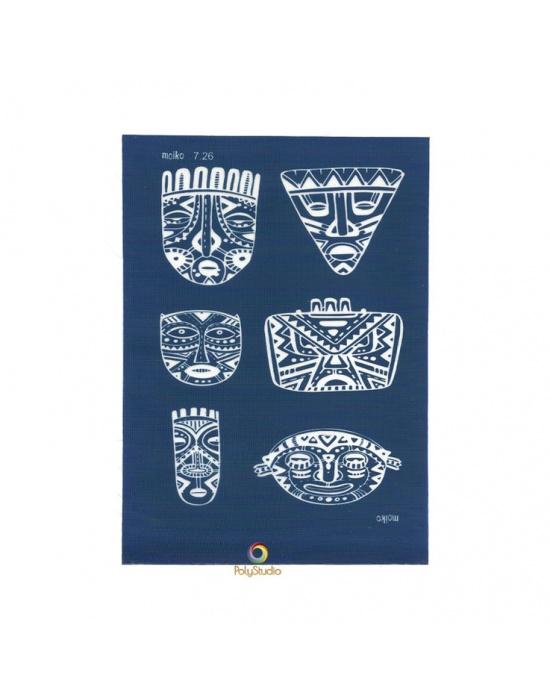 Moïko silk screen Ethnic masks