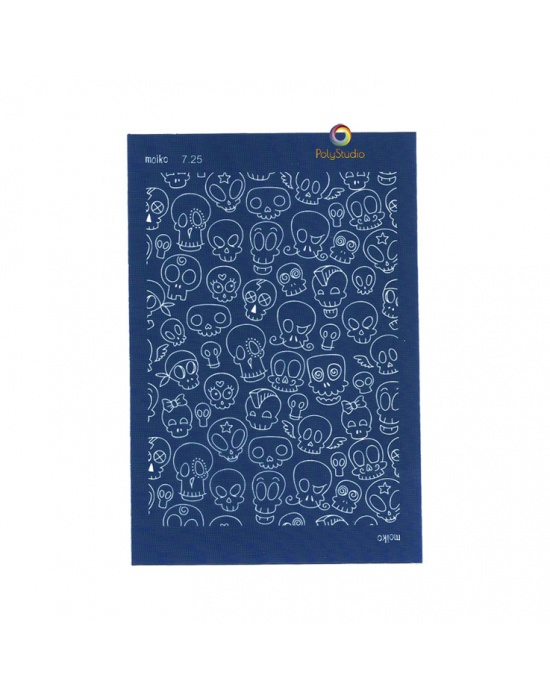 Moïko silk screen Cartoon skull