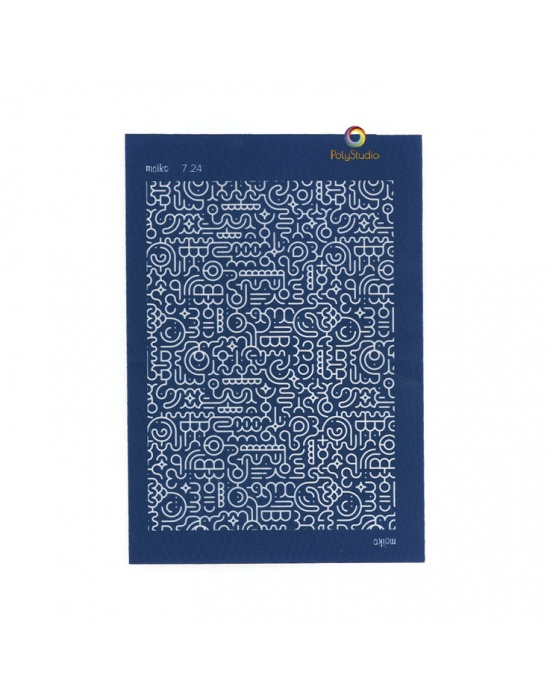 Écran de sérigraphie Moïko Labyrinthe courbe