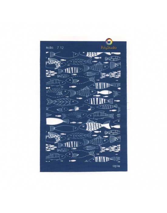 Moïko silk screen Small fishes
