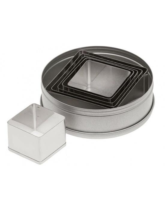 6 Ateco Square cutters