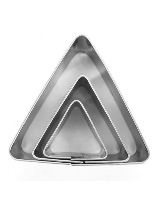 3 mini emporte-pièces Triangles