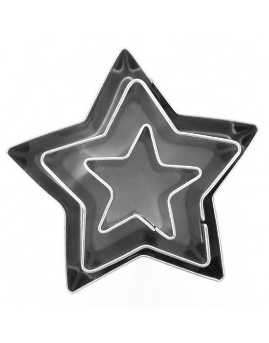 3 mini emporte-pièces Étoiles