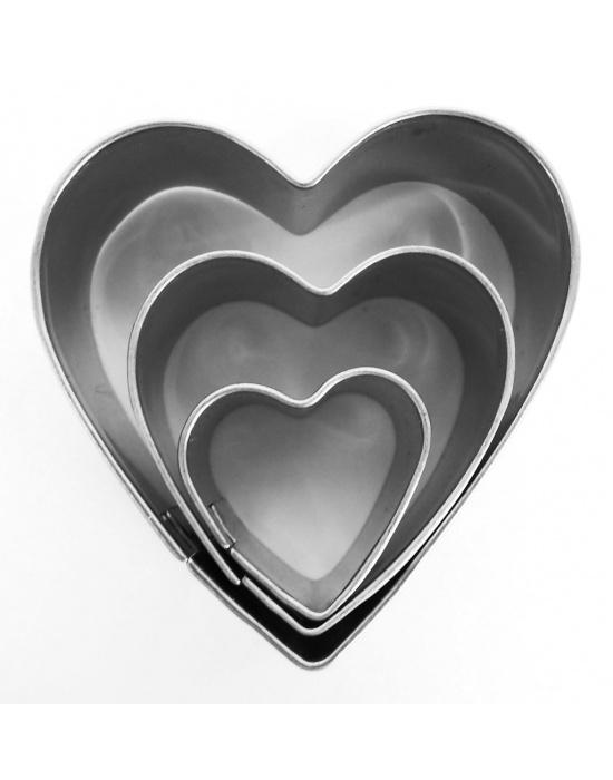 3 mini emporte-pièces Cœurs