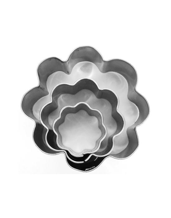 3 mini emporte-pièces Fleurs