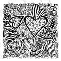 Texture stamps Cernit Hearts