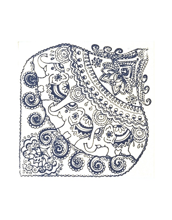 Texture stamps Cernit Indian Elephants