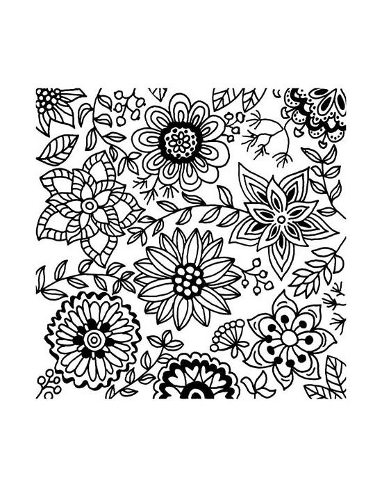 Texture stamps Cernit Blossoms