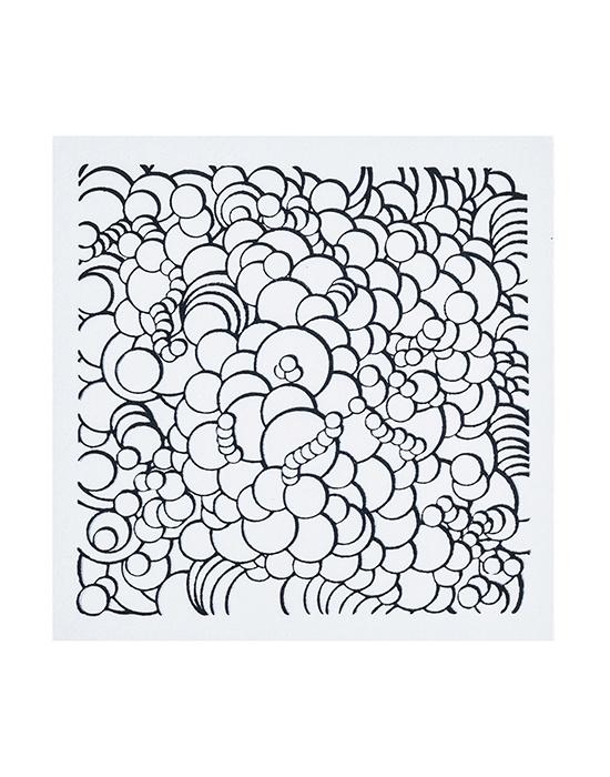 Texture stamps Cernit Bubbles