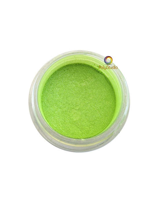 Pearl Ex powder jar Apple Green