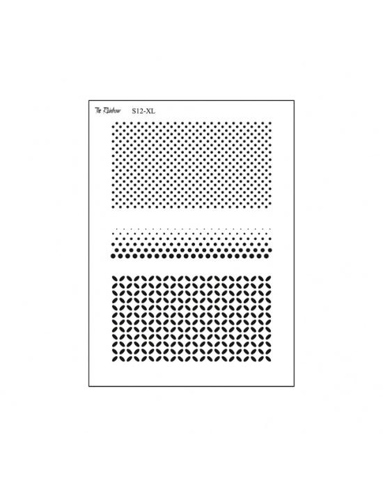 The Rainbow double silk screen Polka dots
