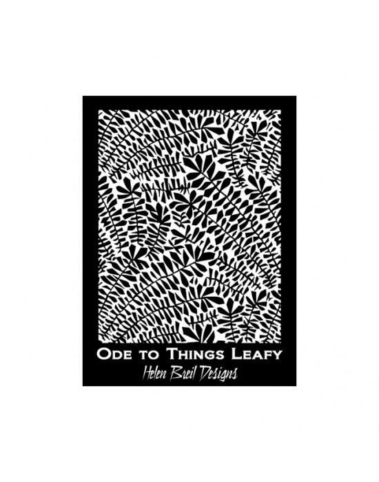 Écran de sérigraphie H. Breil Ode to things leafy