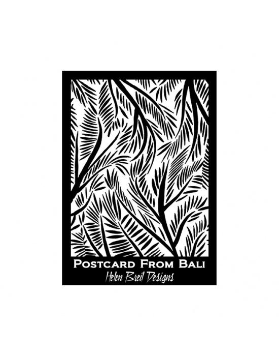 H. Breil silk screen Postcard from Bali