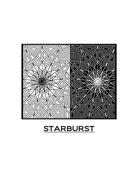 Texture Pixie Art Starburst