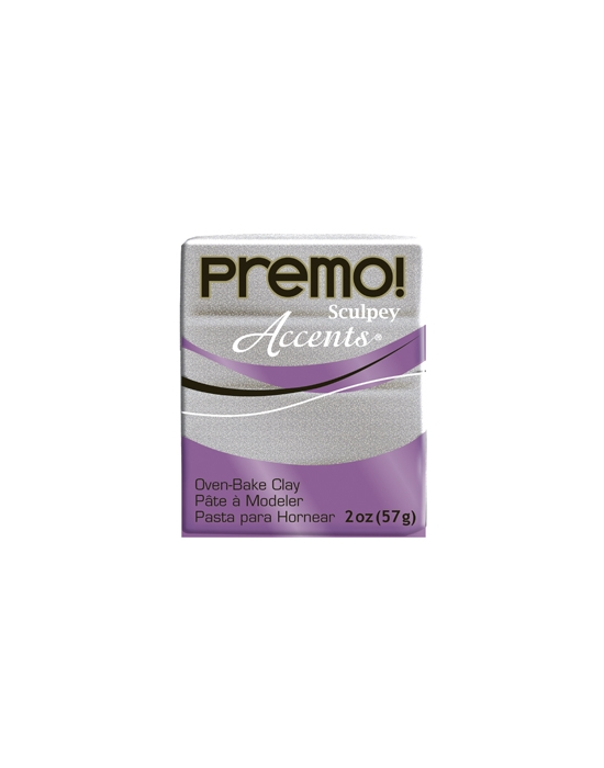 Premo! Accents 57 g 2 oz White Gold Glitter Nr 5132