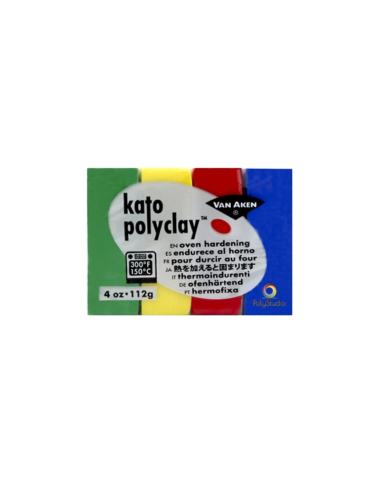KATO Polyclay 112 g 4 Couleurs Primaires