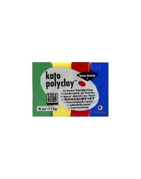 KATO Polyclay 112 g 4 Couleurs Primaires
