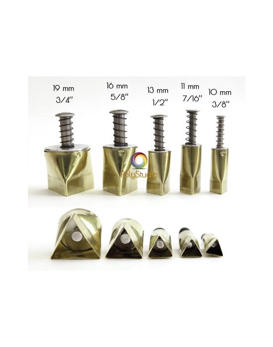 5 emporte-pièces Kemper Triangles 10 à 19 mm