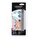 3 Cernit blades flexible, rigid, rippled